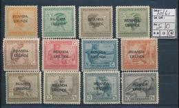 RUANDA URUNDI COB 50/61 LH - 1924-44: Neufs