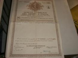 CERTIFICATO NOMINATIVO DEBITO PUBBLICO DEL REGNO D'ITALIA 1943 - Azioni & Titoli