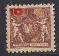 Liechtenstein 1924 Freimarken - Aushilfsausgabe 10Rp Auf 13Rp Perf. 9.5 ** Mnh (gum Is Not Perfect, Brown Spots) (44413) - Unused Stamps