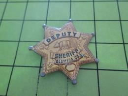 815c PINS PIN'S / Beau Et Rare : Thème POLICE / ETOILE DE SHERIF CALIFORNIE ALAMEDA COUNTY - Police