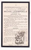 DP Michiel Leempoels ° Wezemaal Rotselaar 1839 † 1927 X Philippien Stas - Images Religieuses