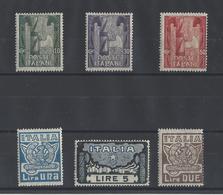 ITALIE .  YT   N° 134/139  Neuf *  1923 - Neufs