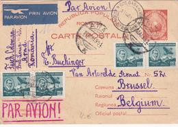 Entier  Postal Stationery - ROUMANIE / ROMANA - 1951 - Par Avion - Postwaardestukken