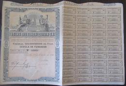 Achat Immédiat - Espagne - Action Islas Del Guadalquivir SA - Séville, 1926 - Complète De Ses Coupons - Actions & Titres
