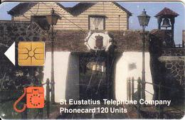ST. EUSTATIUS(chip) - Portal, Eutel Telecard 120 Units, Chip GEM1.2, Tirage 5000, 11/98, Used - Antillen (Nederlands)