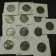Portugal 13 Coins 25 Escudos 1977 Alexandre Herculano - Kilowaar - Munten