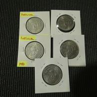 Portugal 5 Coins 25 Escudos 1981 Ano Internacional Do Deficiente - Kilowaar - Munten