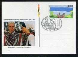 """Bundesrepublik Deutschland / 2001 / Privatpostkarte """"Trachten Auf Briefmarken"""" SSt. Berlin-Zentrum (23795) - Cartes Postales Privées - Oblitérées"""