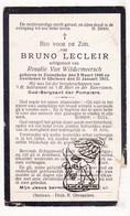 DP Sergeant Pompier - Bruno Lecleir ° Zonnebeke 1840 † Geluwe Wervik 1915 X Rosalie Van Wildermeersch - Devotion Images
