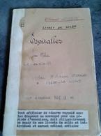 Livret De Soldes Espitalier Officier De Réserves Enseigne De Vaisseau Sur Porte Avions DIXMUDE EN 1951 MARINE NATIONAL - Documents