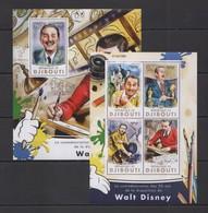 SS148 2016 DJIBOUTI ANIMATION CARTOONS ANNIVERSARY WALT DISNEY KB+BL MNH - Disney