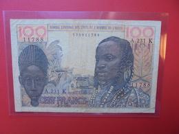 AFRIQUE De L'OUEST 100 FRANCS 1965 CIRCULER (B.6) - États D'Afrique De L'Ouest