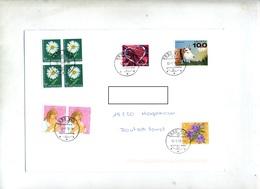 Lettre Cachet Visp Sur Fleur Vache Coeur - Storia Postale