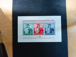 Exportmesse Hannover 1949 Bl. 1a ** - Bizone