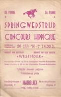 La Panne, Concours Hippique 20/08/1961 - Programmes