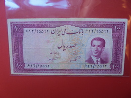IRAN 100 RIALS 1953 CIRCULER  (B.6) - Iran