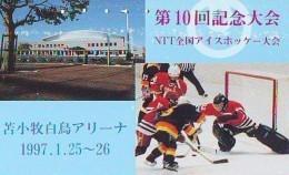 Télécarte Japon * 110-14427 * Sport * EIS * ICE HOCKEY Sur Glace (454) Japan Phonecard * TK * SCHAATSEN SKATING - Sport