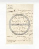 /!\ 1314 - Parchemin - Militaire - 1820 - Lettre Au Ministre De La Guerre - Manoscritti