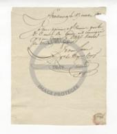 /!\ 1317 - Parchemin - Militaire - 1806 - Strasbourg - Convocation Au Conseil De Guerre - Manoscritti