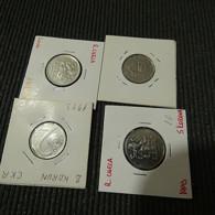 Czech Republic 4 Coins (2 And 5 Korun) - Münzen & Banknoten