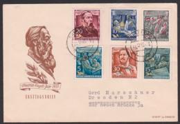 """Friedrich Engels """"Proletarier Aller Länder Vereinigt Euch"""" Karl Marx, Rheinische Zeitung, 1. Internationale, DDR 485/90 - Brieven En Documenten"""