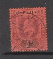 Fiji SG 105 1903 King Edward 1d Purple And Black,usato - Fiji (1970-...)