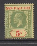 Fiji SG 136 1912 King George V Five Shilling Black-green,mint  Hinged - Fiji (1970-...)