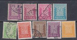 Portugal Timbres Taxe N° 58 / 68 X O Sauf 58 Et 61, Les 9 Valeurs Trace De Charnière Ou Oblitérées Sinon TB - Port Dû (Taxe)
