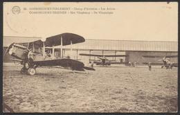 Belgique - Gossoncourt - Tirlemont : Champ D'aviation, Les Avions. Voyagée De Tirlemont (1927) Vers Bruxelles. - 1919-1938: Entre Guerres