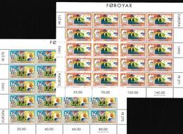 1995 FAROER Faroe EUROPA CEPT EUROPE 20 Serie Di 2v. MNH** In Minifoglio Minisheet - Europa-CEPT