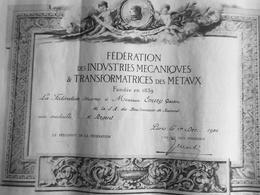 FEDERATION DES INDUSTRIES MECANIQUES TRANSFORMATRICES DES METAUX BOULONNERIE DE JEUMONT (NORD) 1956 - Diplome Und Schulzeugnisse