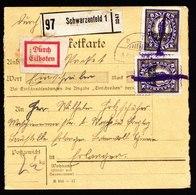 A6281) DR Infla Expresspaketkarte Schwarzenfeld MeF Mi.132 (2) - Briefe U. Dokumente