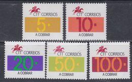 Portugal Timbres Taxe N° 98 / 02 XX  Emblème De La Poste, La Série Des 5 Valeurs Sans Charnière, TB - Port Dû (Taxe)