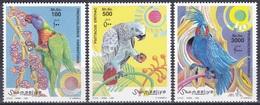 Somalia 1999 Tiere Fauna Animals Vögel Birds Oiseaux Aves Uccelli Papageien Parrots Lori Kakadu, Mi. 746-8 ** - Somalia (1960-...)
