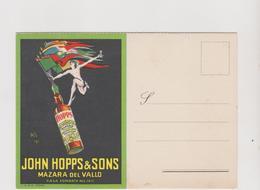 Pubblicitaria, Marsala John Hopps & Sons, Mazara Del Vallo, Illustrata Da Mario Bazzi (nel 1923)  - F.G. - Pubblicitari