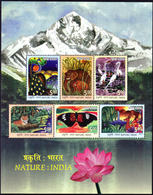 5X INDIA 2017 NATURE : INDIA; Miniature Sheet, MINT - India