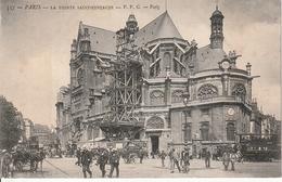 CPA 75 -- PARIS -- La Pointe Saint Eustache - Echaffaudage ; Travaux De Réparations - Dos NON Divisé - Arrondissement: 01