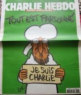 CHARLIE HEBDO JE SUIS CHARLIE JOURNAL IRRESPONSABLE REVUE SATIRIQUE CARICATURE HUMOUR POLITIQUE DU MONDE 14 JANVIER 2015 - Politics