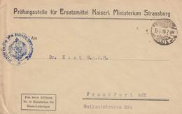 Env Frei Durch Ablösung / Nr 19 Ministerium Für / Elsass-Lothringen Obl STRASSBURG / * (ELS) 1 P Du 19.7.18 - Postmark Collection (Covers)