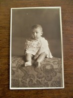 Oude Foto Van Baby  ( Sepia-kleur ) Door  B .. BLONDIAU   AALST - Identified Persons