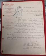 DOCUMENTO  8 Setembro 1910 CAPELLA E VIVES RUA DUQUE LOULE 129 PORTO - Portugal