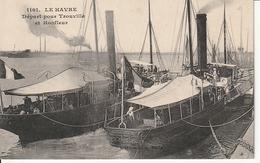 CPA 76 -- LE HAVRE -- Départ Pour Trouville Et Honfleur 1915 - Belle Animation - Hafen