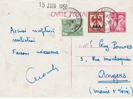 Carte Postale Repiquage Lecompte Doudeville Sur 2.4 Iris Avec  Complement D'affranchissement - Biglietto Postale