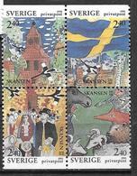 Suède 1991 N°1645/1648 Neufs En Bloc, Musée De Skansen - Nuevos