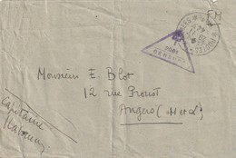 Lettre Trésor Et Poste Censuré 2001cenure Avec Croix De Lorraine Du 29 11 1944 - Storia Postale