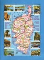 20 - Corse - Carte Géographique - Ecrite En 1988 - Frankrijk