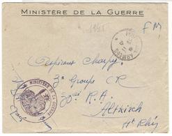 21507 - Du MINISTERE DE LA GUERRE - Marcophilie (Lettres)