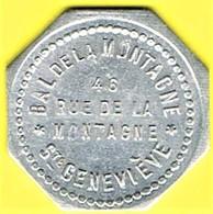 Nécessité - Jeton De Bal - Bal De La Montagne - Paris 5ème - Monétaires / De Nécessité