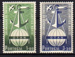 Portugal  N° 760 / 61 XX  : 3ème Anniversaire De L' OTAN La Paire Sans Charnière, TB - Neufs