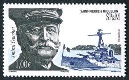 ST-PIERRE ET MIQUELON 2015 - Yv. 1146 **  - Dominique Gauchet, Amiral. Sous-marin  ..Réf.SPM11705 - St.Pierre & Miquelon